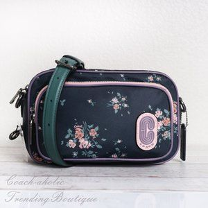 NWT Coach Court Crossbody with Rose Bouquet